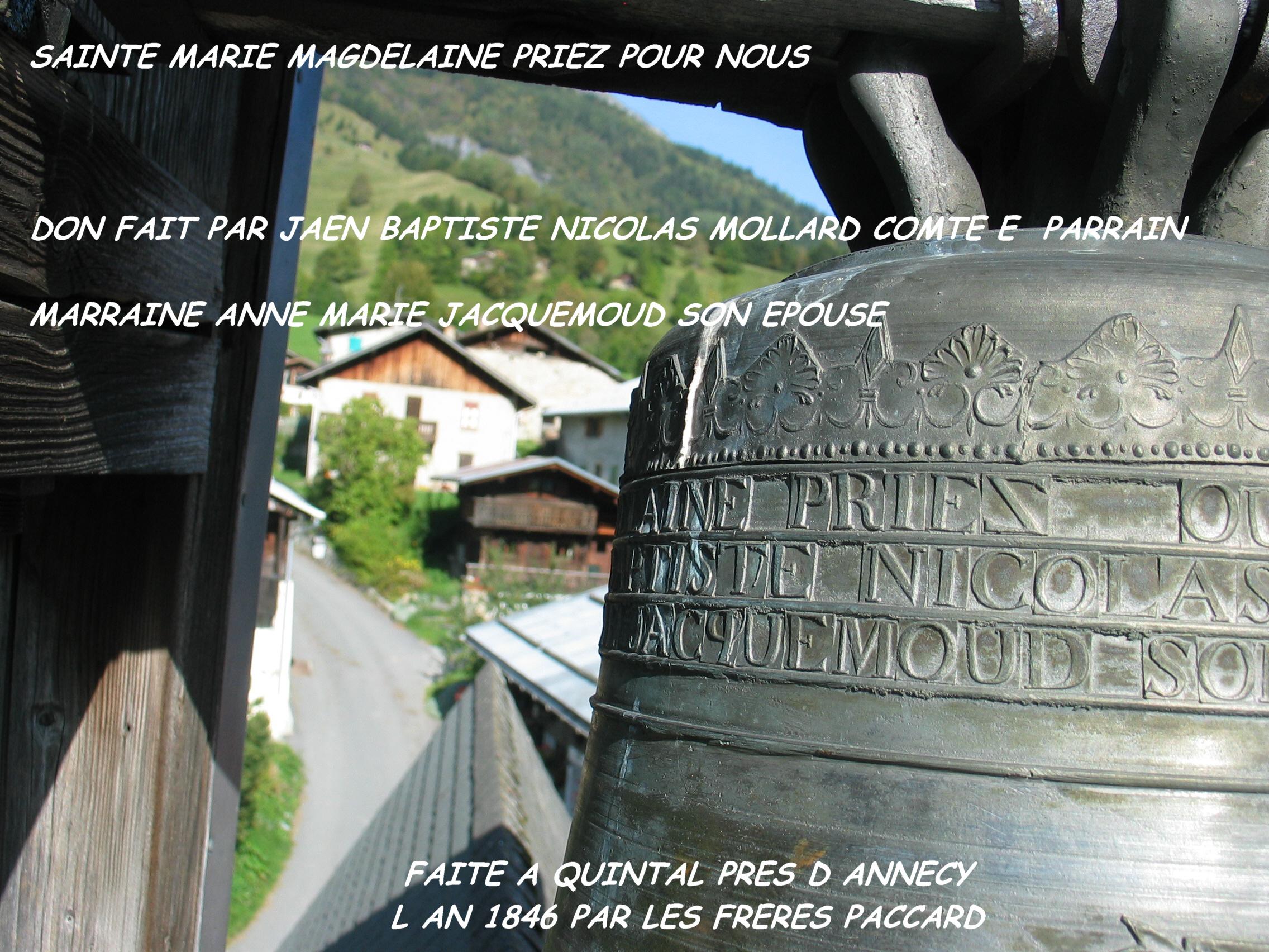 La cloche du Baptieu et ses inscriptions